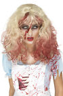 Smiffys Womens Zombie Bloody Alice Wig Ladies Halloween Fancy Dress Accessory