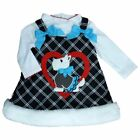 Youngland Infant Toddler Girls 2 PC Scottie Dog Dress Outfit Jumper Shirt
