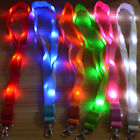 LED Light Up Neck Strap Band Lanyard key Chain ID Badge Holder Hanging Rope