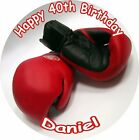 "BOXING GLOVES ROUND 7.5""  CAKE TOPPER ICING OR RICEPAPER"