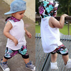 2PCS Toddler Newborn Baby Boys Hooded Vest Tops+Shorts Pants Summer Suit Clothes