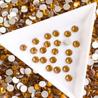 Topaz Non Hot Fix Rhinestone Gold Stones for Dance Dress Glass Crystals Beads