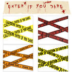 Smiffys Zombie Biohazard Tapes Or Banner Fancy Dress Halloween Decorations
