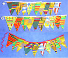 DOUBLE SIDED AFRICAN FABRIC BUNTING Rustic Chic Kente Wedding Christmas Party
