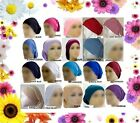 Ladies UNDER-SCARF PULL OVER JERSEY TUBE BONNET CAP BONE Islamic Hijab Haircover