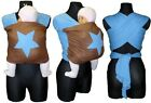 BLUE BROWN BABY SLING STRETCHY WRAP FROM BIRTH UNIVERSAL BABY CARRIER SOFT STAR