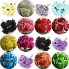6 Stems 7cm Wide Headed Bridal Craft Colourfast Realistic Artificial Foam Roses