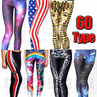 Women Yoga Gym Stretch Pants 3d Printed Leggings Exercise Jogger Sports Trousers