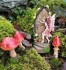 Fairy Door Secret Garden Magical Pixie Elf Ornament Figurine Decor Mushrooms