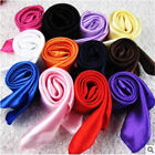 Women's Candy Colors Solid Silk-Satin Kerchief Small Square Neck Scarves 50 50cm