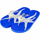 MISS TRISH LADIES DESIGNER FLIP FLOPS - CLEAR/BLUE - CORAL UK SIZE 4 & 7 RRP £40