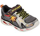 New Boys Toddler Skechers S Lights Ipox Rayz Shoe Style 90386N Gunmetal/Red 163o