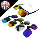 Fashion Polarized Day Night Vision Clip-on Lens Driving Glasses Sunglasses Hot