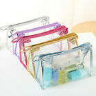 Fashion Clear Cosmetic Make up Bag Transparent See Through Toiletry Zipper Bag