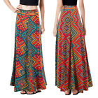 Stella Morgan Designer Womens Long Skirt New Ladies Ikat Print Maxi With Belt