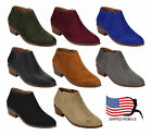 Top Seller ShoeDx Gift Women's Inside Zip Stacked Heel Western Ankle Booties