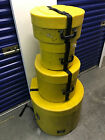HUMES AND BERG Drum 4pc Carrying Cases Elite Air 22x16,10,14,14x6 YELLOW