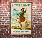 Pan Am Scotland Vintage Airline Travel Poster Print 6 sizes matte+glossy avail