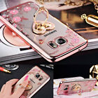 Luxury Clear Crystal Diamond Stand Case Cover for iPone 6 7 8Plus XS /Samsung
