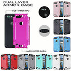 For ZTE Blade Z MAX Brushed Metallic Dual Layer Slim Armor Hybrid Cover Case
