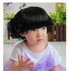 New Baby Girl Black Short Curly Wig Hair Toddler Child Costume Adjustment Kid
