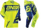 NEW 2018 ANSWER RACING SYNCRON YELLOW BLUE YOUTH RACE GEAR COMBO JERSEY PANTS MX