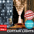 3x3m/10m 100/304 Led Window Curtain String Fairy Lights Wedding Party Decoration