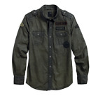 96460-16VM Shirt-Multi Patch Dark Olv