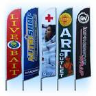 15&#039; Full Color Custom Tall Swooper Advertising Flag Feather Banner Digital Print <br/> Unlimited colors. No set-up fee. Design it online now !