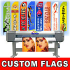 15' Full Color Custom Tall Swooper Advertising Flag Feather Banner Digital Print