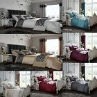 Duvet Cover Sets With Pillow Cases ,Curtains Fully Lined  Bedding Set All Sizes image