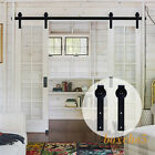4FT-20FT Sliding Barn Door Hardware Closet Track J Kit for One/Two/Bypass Doors