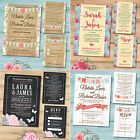 Wedding / Evening Invitation Set - RSVP Card, Poem Card, Information Card