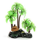 Mini Coconut Tree Aquarium Terrarium Reptile Tank Plant Decor with Stand