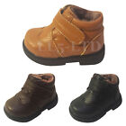 Baby Boys Infant Genuine Leather Winter Ankle Boots Size12-18 18-24 Months