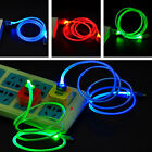 LED Light Glow Micro USB Charger Data Sync Cable for Samsung