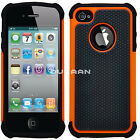 New Apple iPhone 4 4S Protective Dual Layer Shockproof Workman Hybrid Case Cover