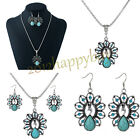 Women Crystal Peacock Pendant Necklace Chain Bridal Party Wedding Jewelry Sets