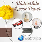 Waterslide Decal Paper, You Choose White or Clear,  Inkjet or Laser. 10 Sheets