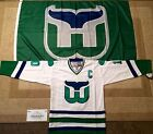 1987 Ron Francis Hartford Whalers White Jersey Size Adult Large + Flag 3x5
