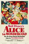 ALICE IN WONDERLAND VINTAGE WALL POSTER RETRO 1951 (SZ: A4 A3 A2 A1 A0 )