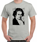 Ludwig Van Beethoven Stone-Grey T-Shirt Classical Music Composer