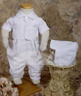 NWT Boys Romper GB501 Christening Baptism Gabardine  18 24 Mo 70% Off Closeout
