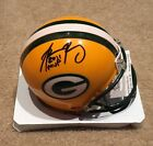 Aaron Rodgers Autographed Green Bay Packers Mini Inscribed XLV MVP W/ JSA COA