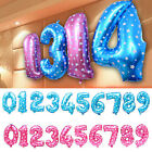 """16"""" Foil 0 - 9 Number Balloons Helium Large Happy Birthday Wedding Party Decor"""