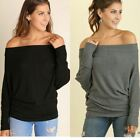 UMGEE off shoulder Top long sleeve batwing Blouse S M L