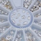 beauty mixed design frosted silver gold metal 3d nail art decoration studs wheel