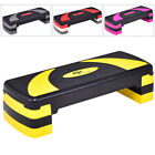 Aerobic Stepper Fitness Exercise Step 3 Adjustable Level Non-slip Board Home Gym