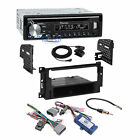 Pioneer CD Bluetooth Stereo Dash Kit Amp Interface for 04+ Chrysler Dodge Jeep
