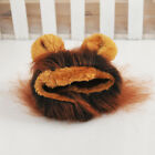 Pet Hat Furry Costume Lion Mane Hair Wig Two Ears Dog Cat Halloween Cosplay Suit